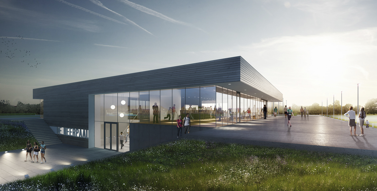 Multi purpose sports facility building moederscheim for Multi purpose building plans