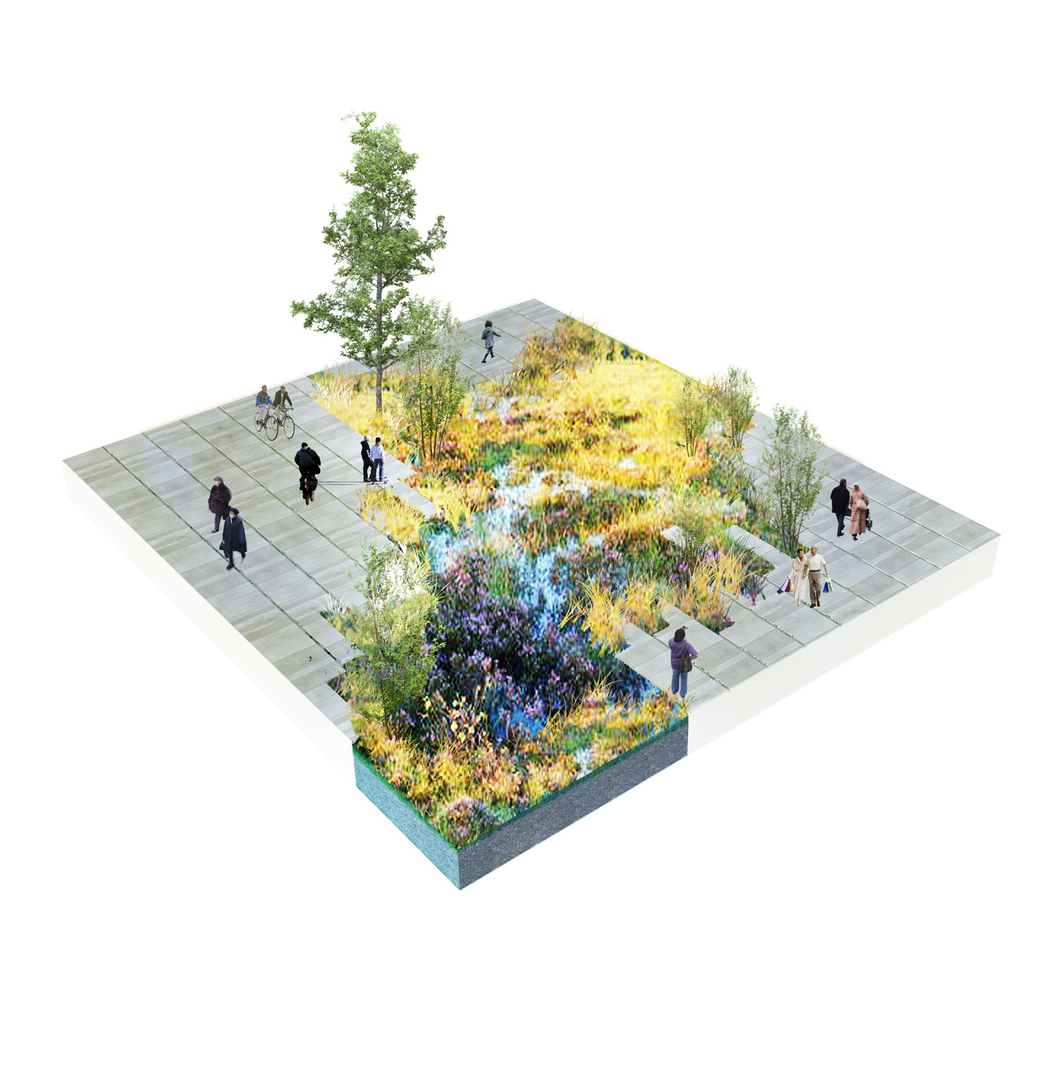Masterplan dsb areas and bus terminal in aarhus for Dsb landscape architects
