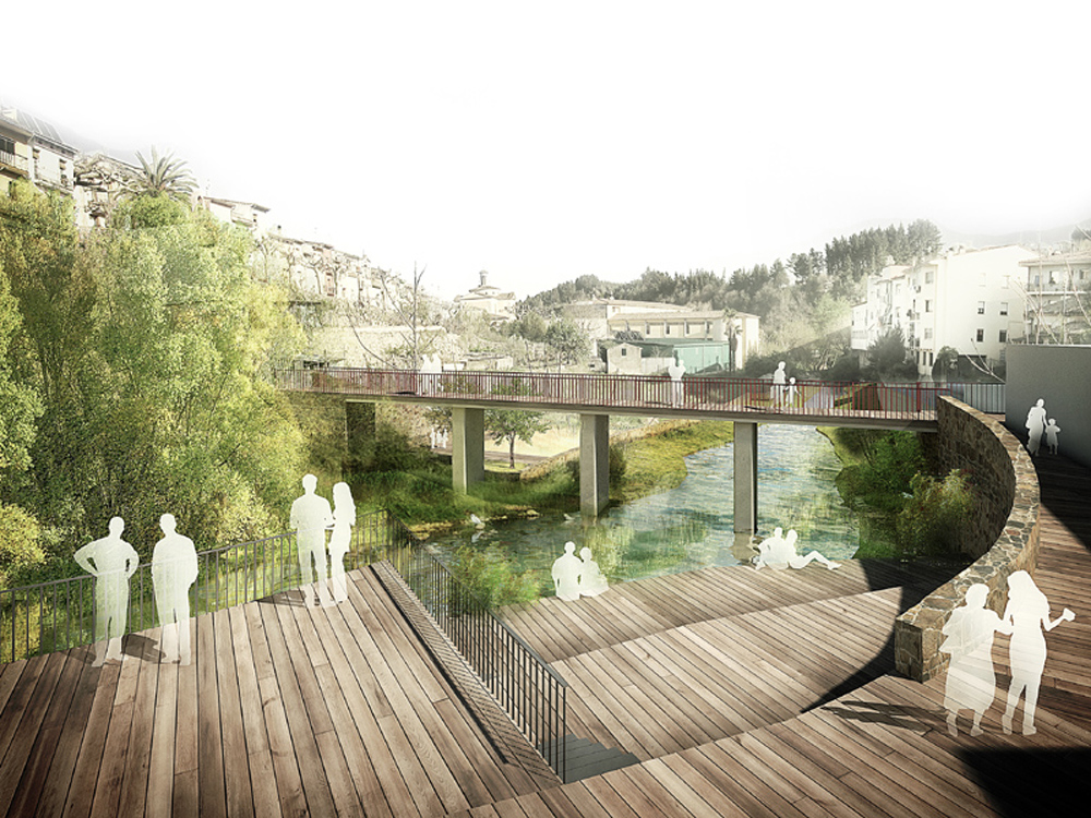 River walk with recreational areas in arb cies xcm for On arquitectura