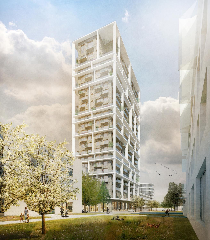 Residential Tower Antwerp C F M 248 Ller Beta Architecture