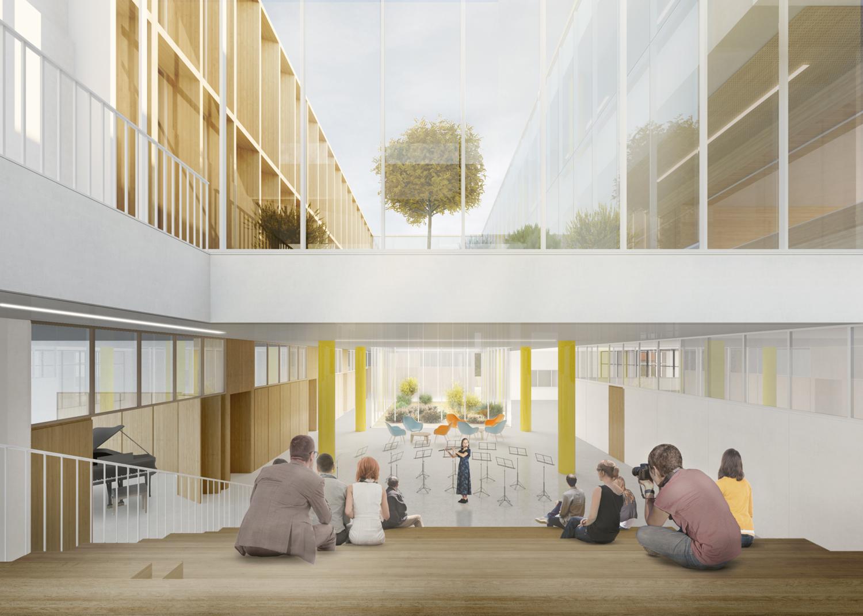 Nuova Scuola Secondaria Di Primo Grado Nel Quartiere Di